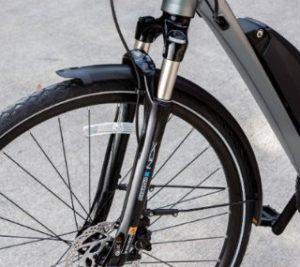 電動クロスバイクYPJ-TCのフロントサスペンション