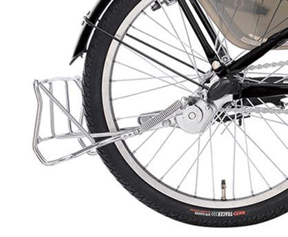 自転車ガーネット203の大きな両足スタンド