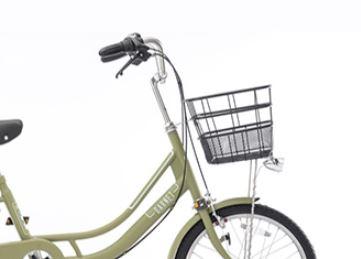 自転車ガーネット203のステンレス製ハンドル